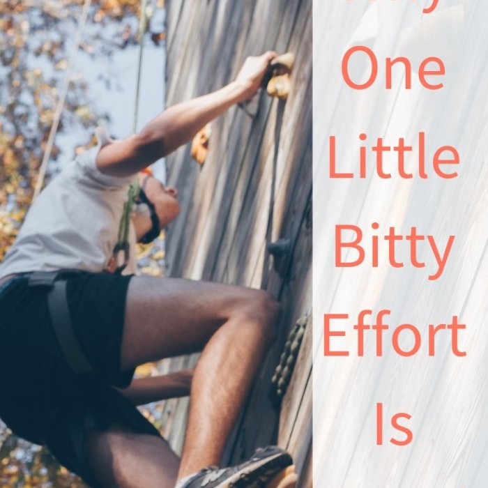Why One Little Bitty Effort is Good