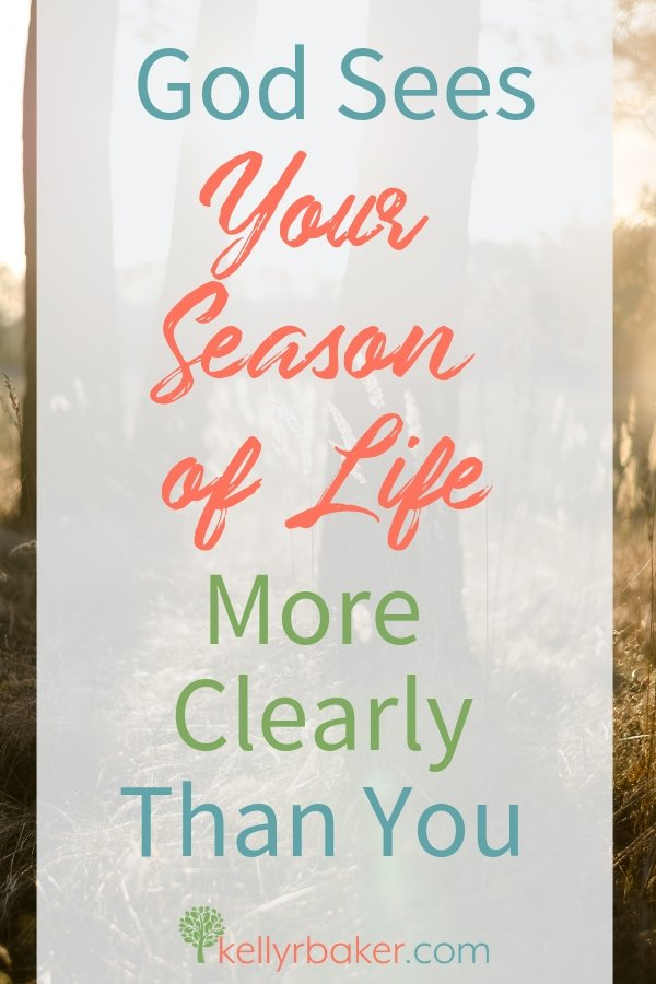 Are you in a long season? God sees your season of life more clearly than you. Here's some encouragement. #ThrivingInChrist #spiritualgrowth #Biblicaltruths #season #waiting #seasons
