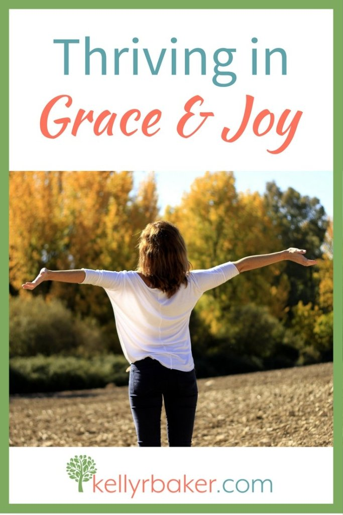 God gives us a healthy dose of grace to help us move forward during sanctification instead of becoming discouraged. Joy is good medicine. #grace #joy #discouragement #thriving #thrive #spiritualgrowth #sanctification #kids