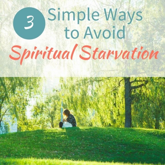 3 Simple Ways to Avoid Spiritual Starvation