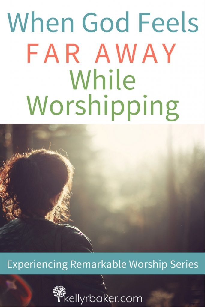 Do you ever experience times when God feels far away? I have, and I dislike it the most when I'm worshipping God. In this post, we are going to explore why that happens and what we can do about it. #thrive #thivinginworship #godtime #church #churchservice #godtime #spiritualgrowth