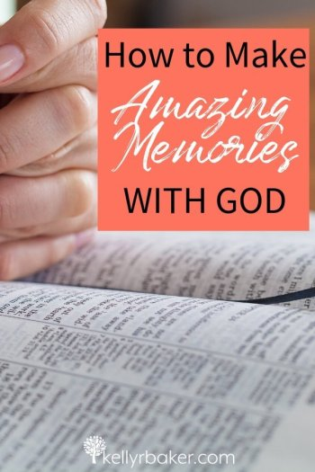 Relationships with those close to us are constructed of memories. It can be the same with God. Here is how to make amazing memories with God. #thrivinginchrist #memories #relationships #dailytime #quiettime #bible #God