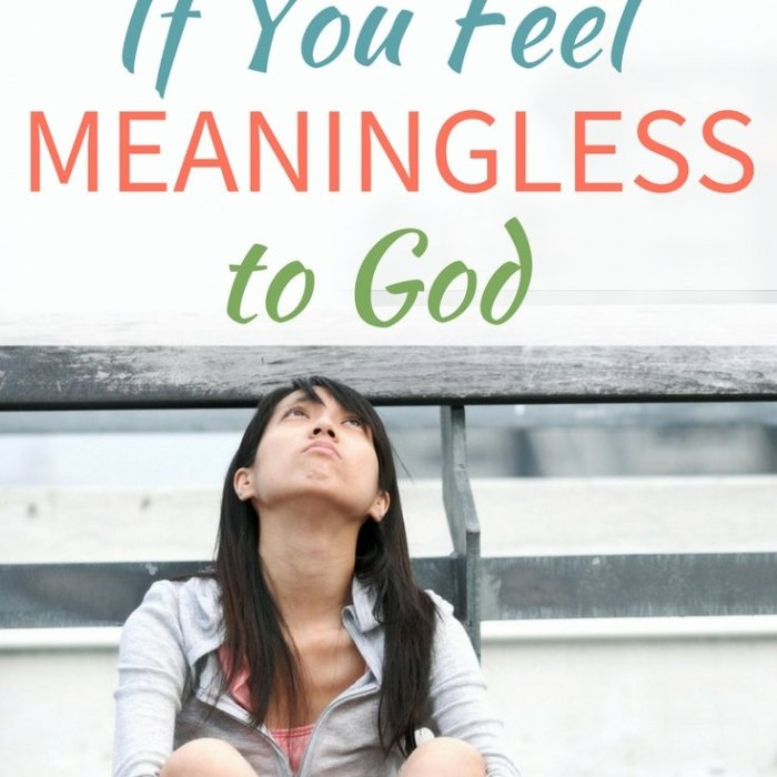 Read This If You Feel Meaningless to God