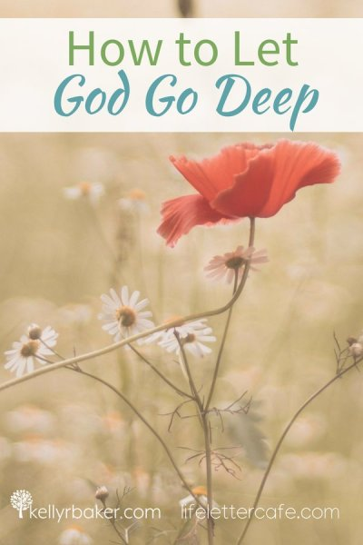 In this post, I'm sharing a story of how I let God go deep in my life. The freedom we gain from that brings a greater spiritual maturity. #ThrivingInChrist #spiritualgrowth #God #spiritualmaturity #idols #freedom