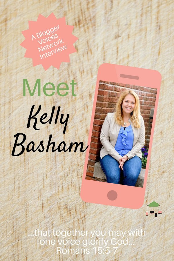 Join us for a Blogger Voices Network Member Interview of Kelly Basham. Find out what God's stirring in her heart to do and glean from her wisdom. #BloggerVoicesNetwork #BVNetworkParty #ThrivingInChrist #BlossomInFaith #interview #blogger #wisdom #spiritualgrowth #Christian #blog
