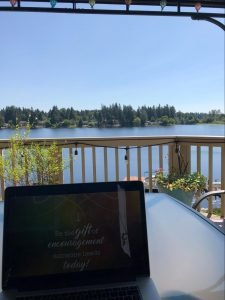lake view for writing