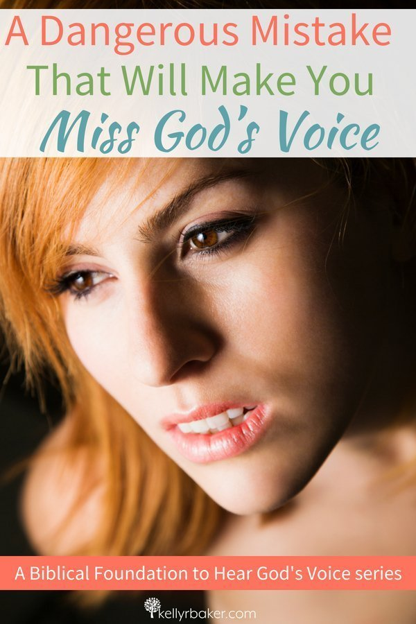 We need to be careful that we don't miss God's voice. This dangerous mistake will cause you to mistake Satan's voice for God's. #ThrivingInChrist #heargodsvoice #hearingfromgod #godsvoice #dailytime #wisdom #spiritualgrowth #bibletruth #deception #authority