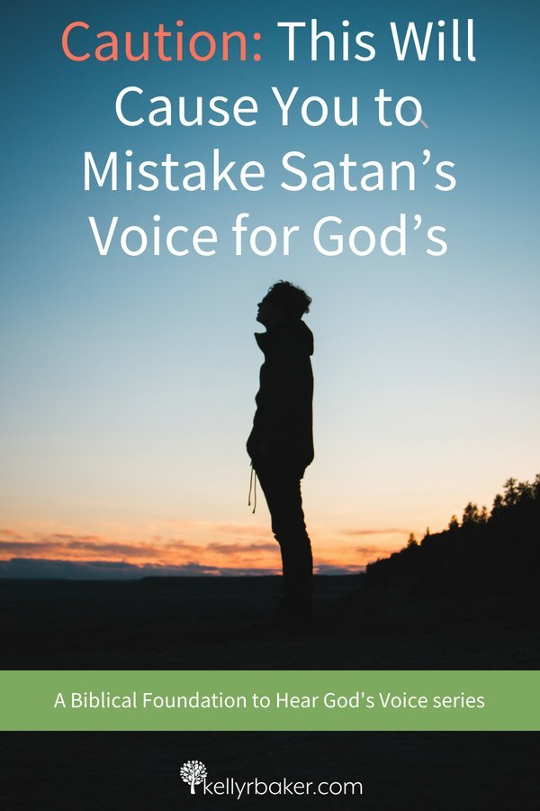 Satan is real and trying to bring deception into your life. We need to be careful that we don't miss God's voice. #ThrivingInChrist #heargodsvoice #hearingfromgod #godsvoice #dailytime #wisdom #spiritualgrowth #bibletruth #deception #authority