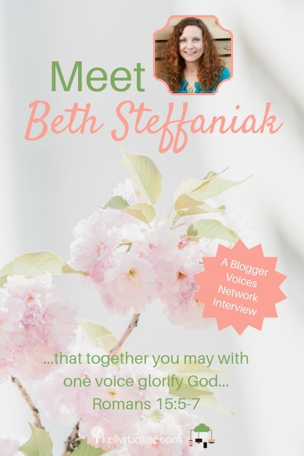 Here's an interview of Blogger Voices Network member Beth Steffaniak! Be encouraged by this veteran blogger with a wonderful ministry to marriages. #BloggerVoicesNetwork #BVNetworkParty #ThrivingInChrist #MessyMarriage #interview #blogger #wisdom #spiritualgrowth #Christian #blog