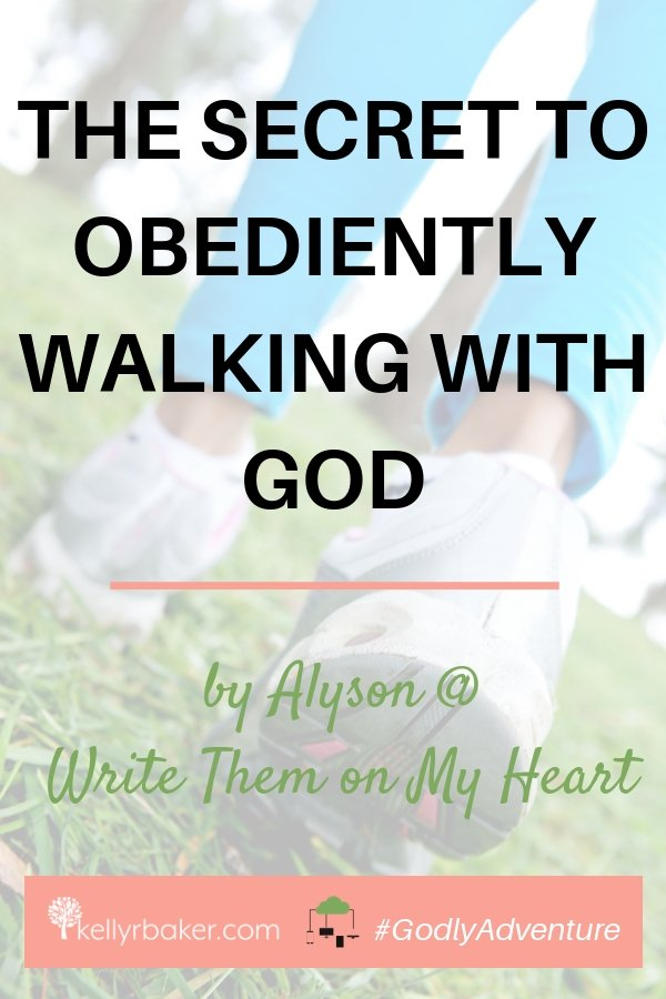 This post tackles every Christian's favorite subject—obediently walking with God. Okay, sarcasm aside, read on to discover the secret! #GodlyAdventure #WalkingwithGod #BloggerVoicesNetwork #ThrivingInChrist #Bible #Christian #Jesus #HolySpirit #obedience