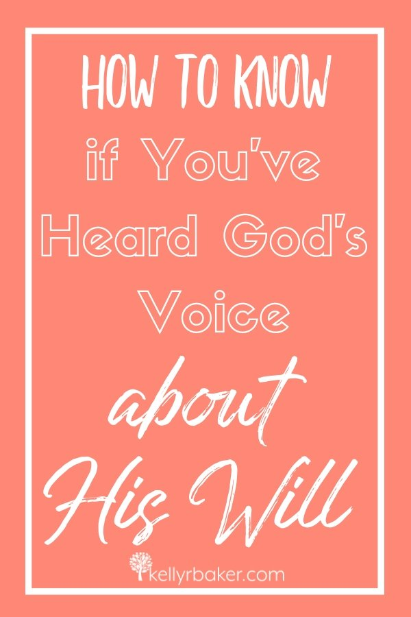 Here's how to know if you've heard God's voice about His will. This article even covers situations that aren't in the Bible. #ThrivingInChrist #Godswill #decisions #biblicaltruths #Godsvoice #prayer #direction #choices #spiritualgrowth