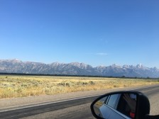 Our drive into Grand Teton National Park.... those are the Grand Tetons!