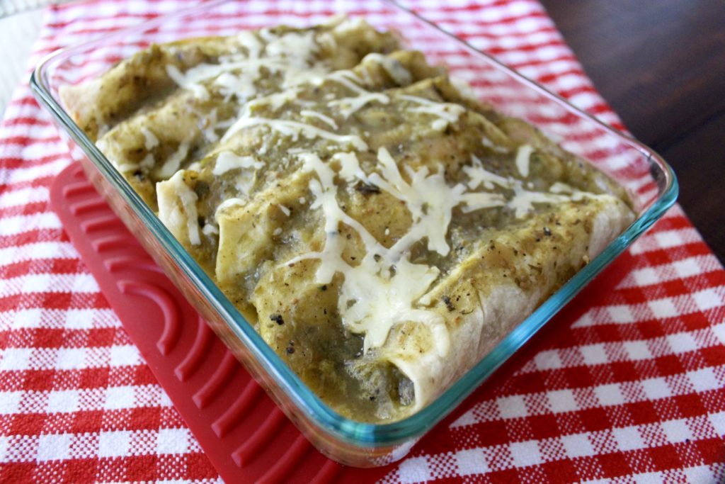 Chicken Enchiladas with Green Chile