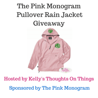 The Pink Monogram Pullover Rain Jacket Giveaway ends 3/18