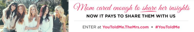The Mrs. $50,000 CASH Giveaway #YouToldMe #MrsMotherDay