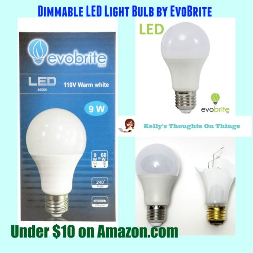 LED Ultra Energy Efficient 9 Watt 3000k Warm White Light Bulb By Evobrite 60