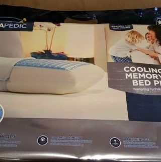 Total Relaxation with Therapedic Cooling Gel Memory Foam Pillow