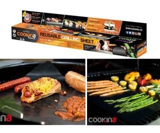 COOKINA Barbecue Reusable Grilling Sheet Makes Grilling SO EASY!