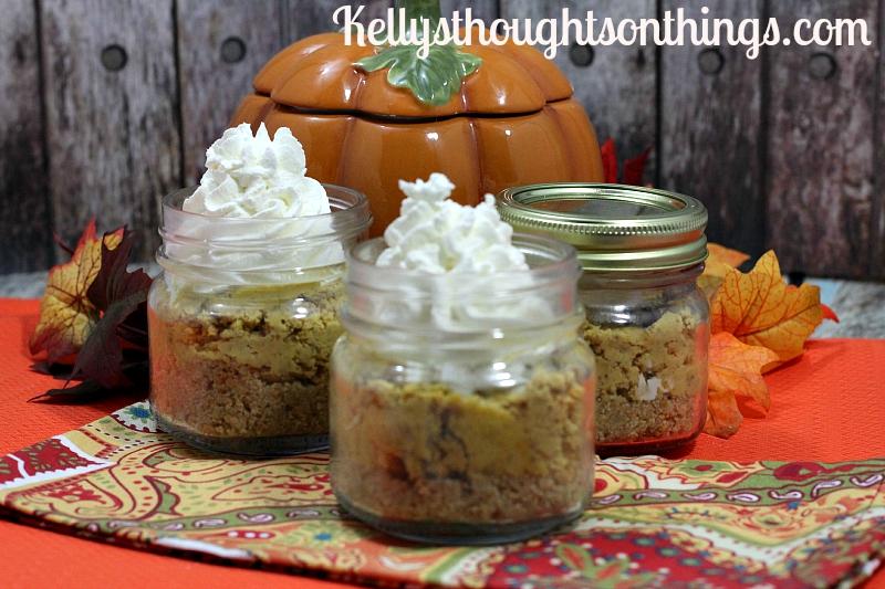 Mason Jar Pumpkin Cheesecake