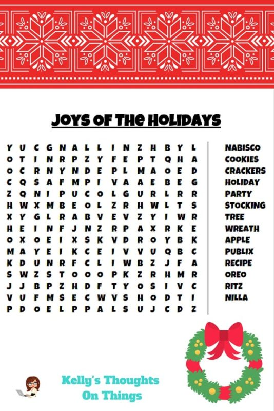 Word Find- Holiday