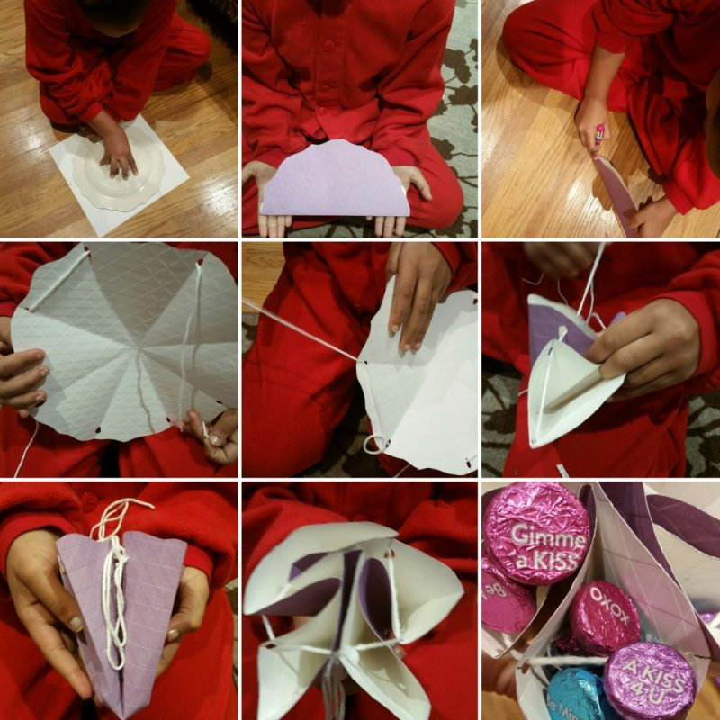 How to make a paper basket #HSYMessageOfLove.