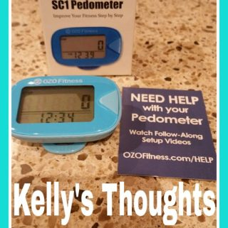 Keep Track Of Your Steps with OZO Fitness Pedometer #OZOFitness