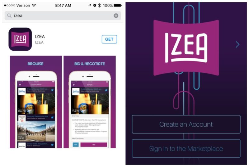 IZEA Launches App For IOS Devices