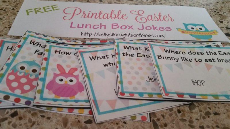 Printable Lunch Box Jokes