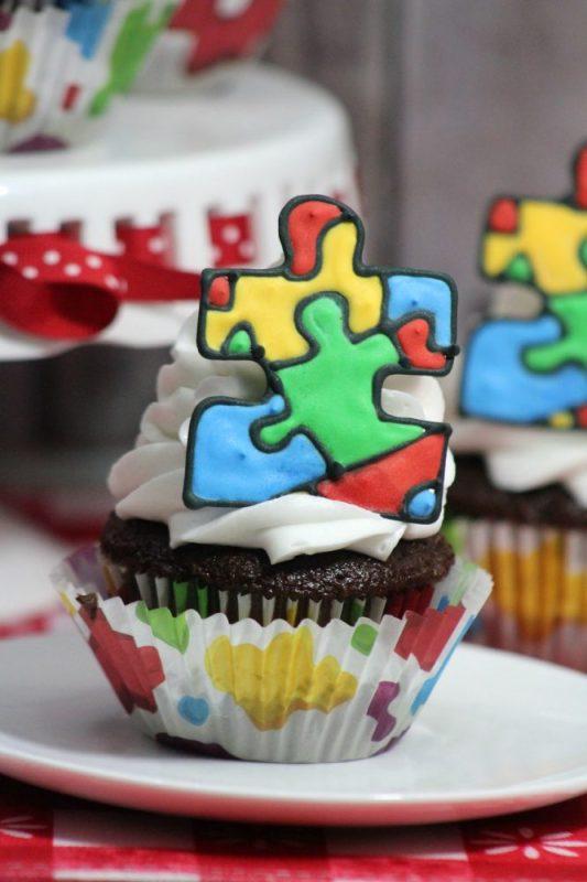 Autism Ribbon Cupcakes Recipe