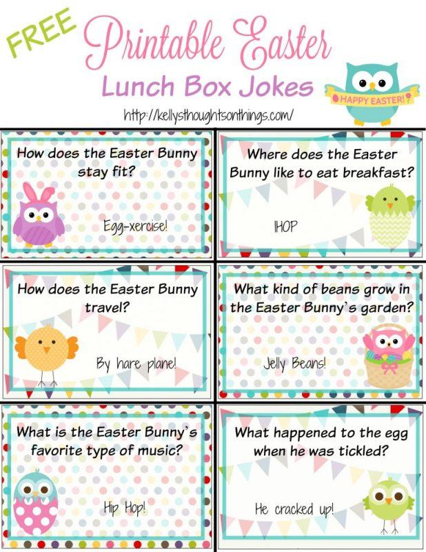 Printable: Easter Lunch Box Jokes