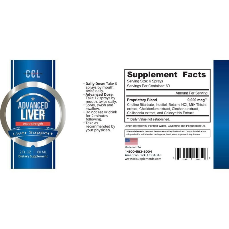 CCL Advanced Liver Detox and Cleanse.