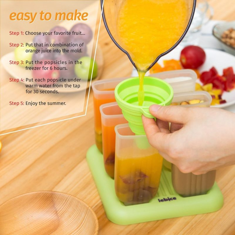 Roll over image to zoom in Lebice Popsicle Molds