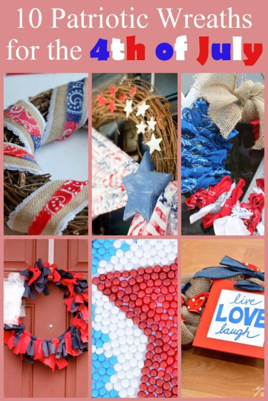 10 Patriotic Wreaths for the 4th of July