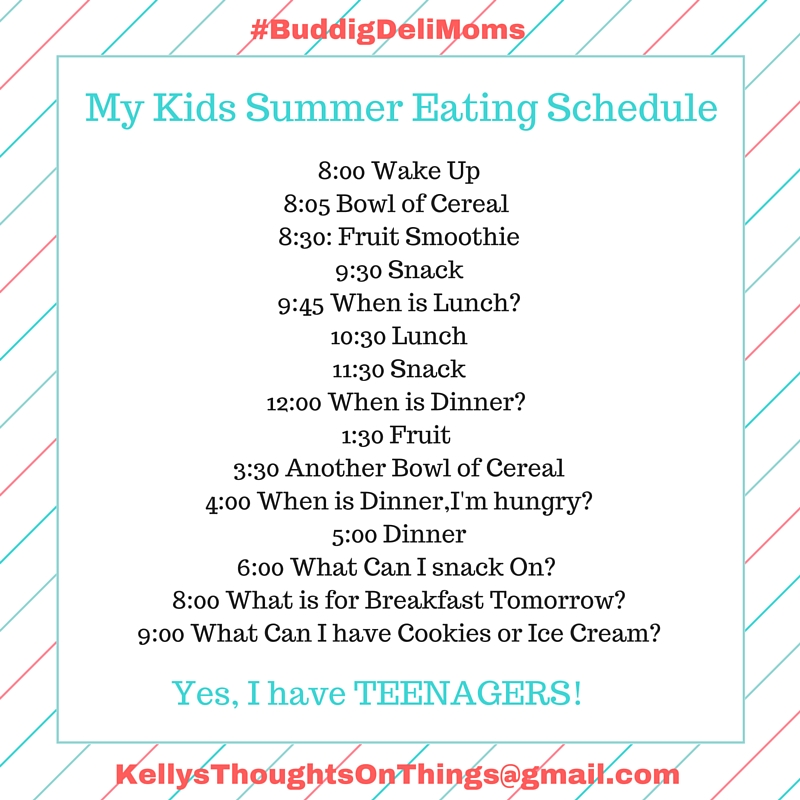 kids eating summer schedule