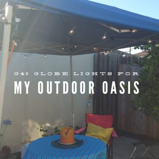 I updated our Backyard Oasis with G40 Globe Patio Lights 25ft
