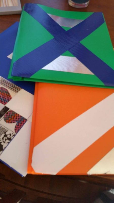 Personalized notebooks with Duck Tape