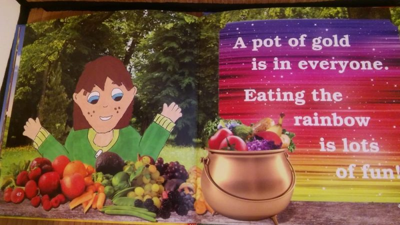 Give it a Go eat a rainbow nutrition book for kids