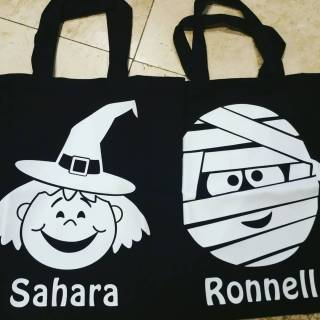 Watch Me Glow Halloween Tote Bags- Personalized!