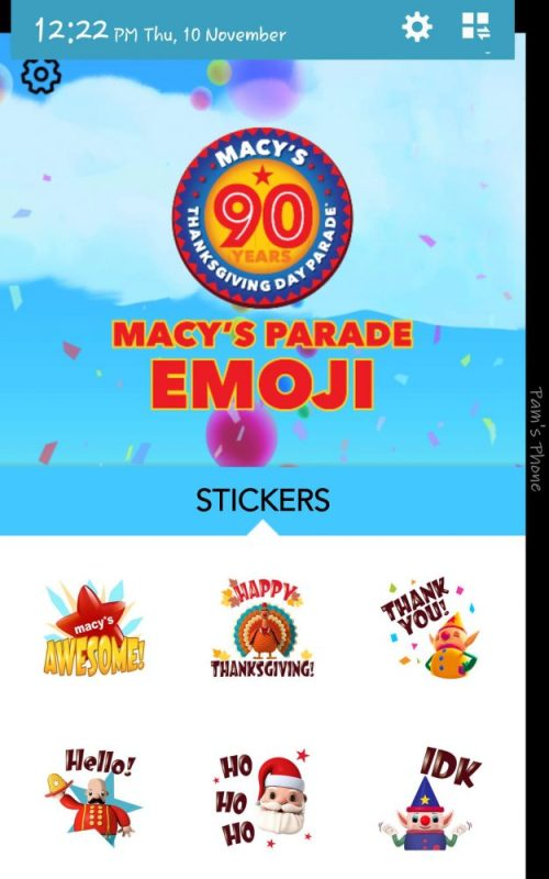 Macy's Parade Apps- Time Travel and Emoji Stickers