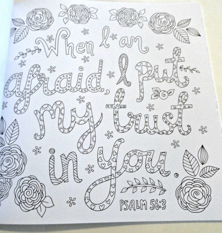 Psalms to color and soothe