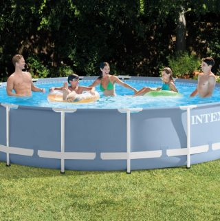 Kick Off Summer with a SPLASH in a Outdoor Intex Pool!