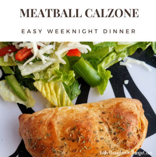 MEATBALL CALZONE for my go to easy weeknight dinner this week. Check out the recipe and coupon! @cookedperfect #ad
