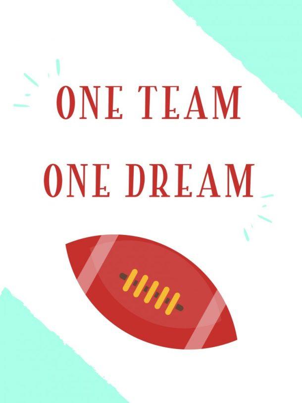 One Team Printable
