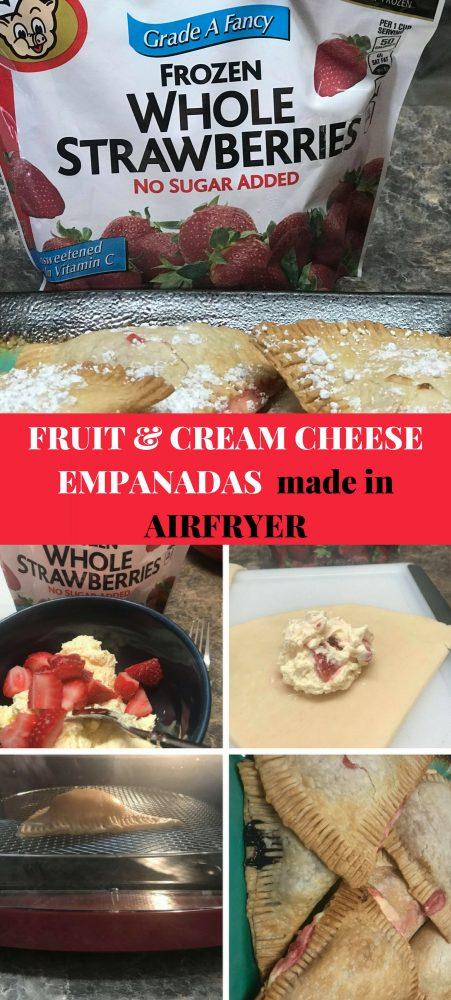 I made FRUIT & CREAM CHEESE EMPANADAS in the #airfryer and they turned out so AMAZING! #empandas #frozenfruit #frozenfoodmonth #ad