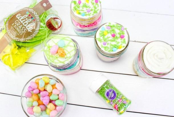 Easter Cake In A Jar Recipe In Process 5