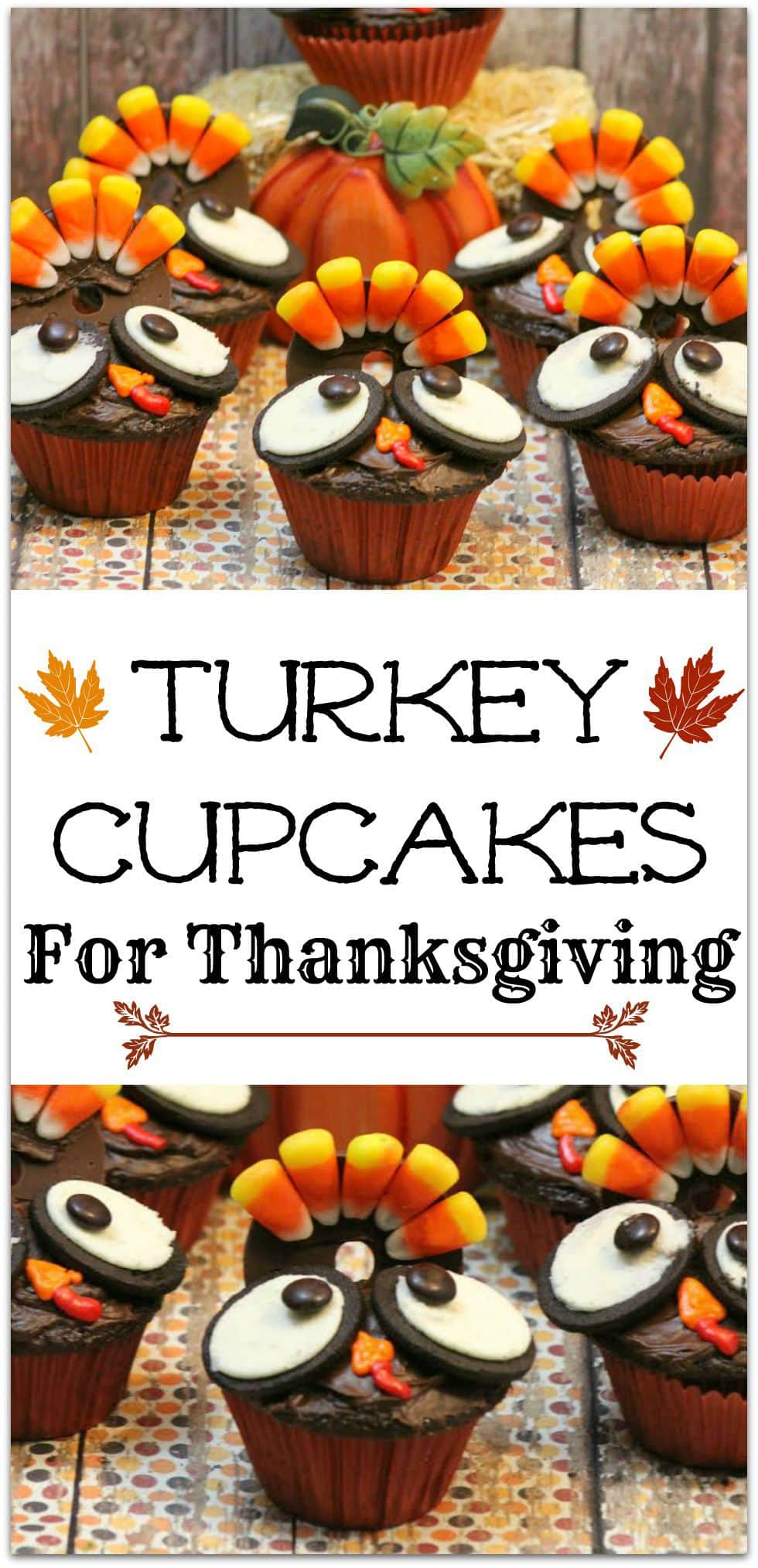 Turkey Cupcakes, by Food, Fun and Faraway Places