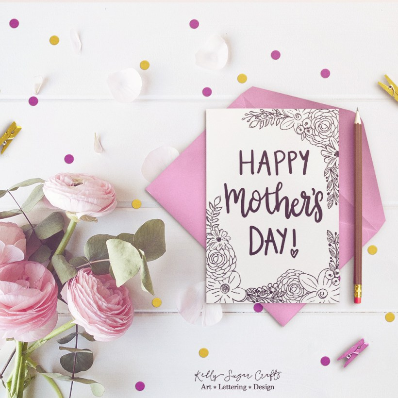 Free Floral Printable Mother S Day Coloring Page Card Kelly Sugar Crafts