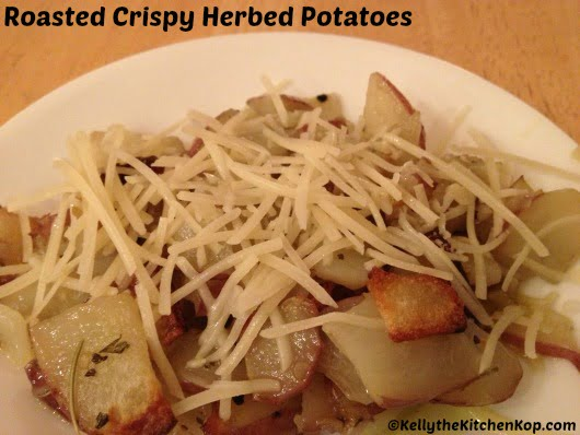 crispy herbed potatoes