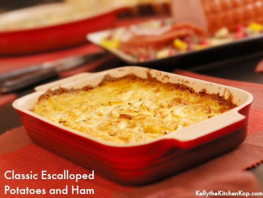 Classic Escalloped Potatoes and Ham
