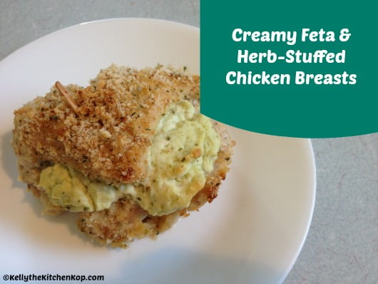 Creamy feta herb stuffed chicken